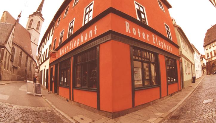 cafe restaaurant roter elephant in erfurt deutschland. Black Bedroom Furniture Sets. Home Design Ideas